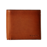 【降$5了!】COACH 蔻驰 Sport Calf Double Billfold 男士钱包 $64.99(约471元)