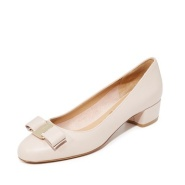 6.5最后一双~Salvatore Ferragamo Vara Low Heel Pumps 女款低跟鞋